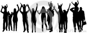illustration-de-vecteur-avec-des-silhouettes-de-famille-37090430